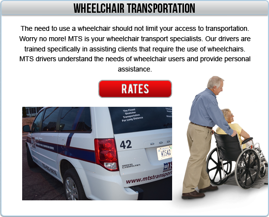 Wheelchair Equipped vehicle services